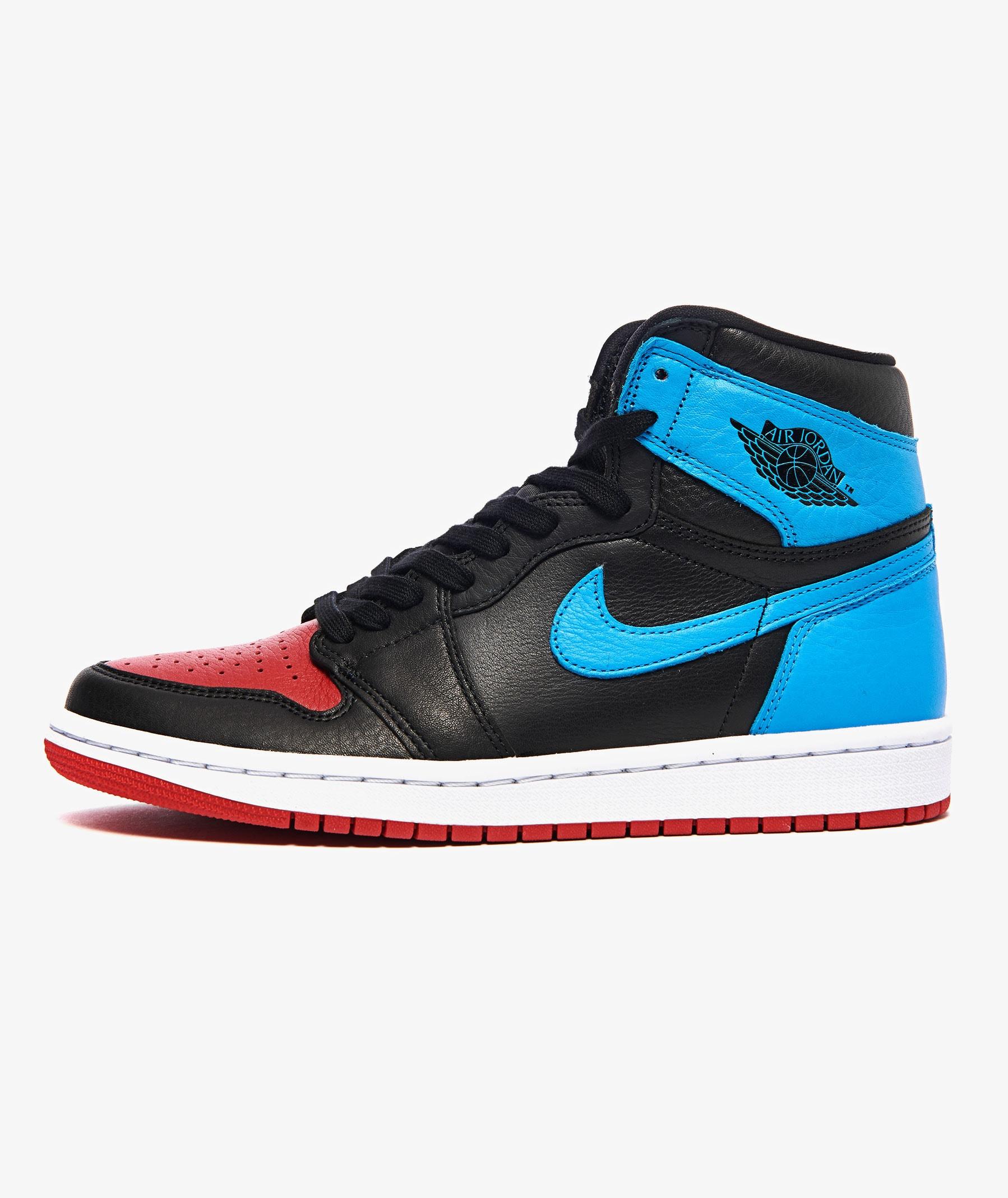 Jordan 1 High OG PS (Black, Dark Powder Blue & Red) | END