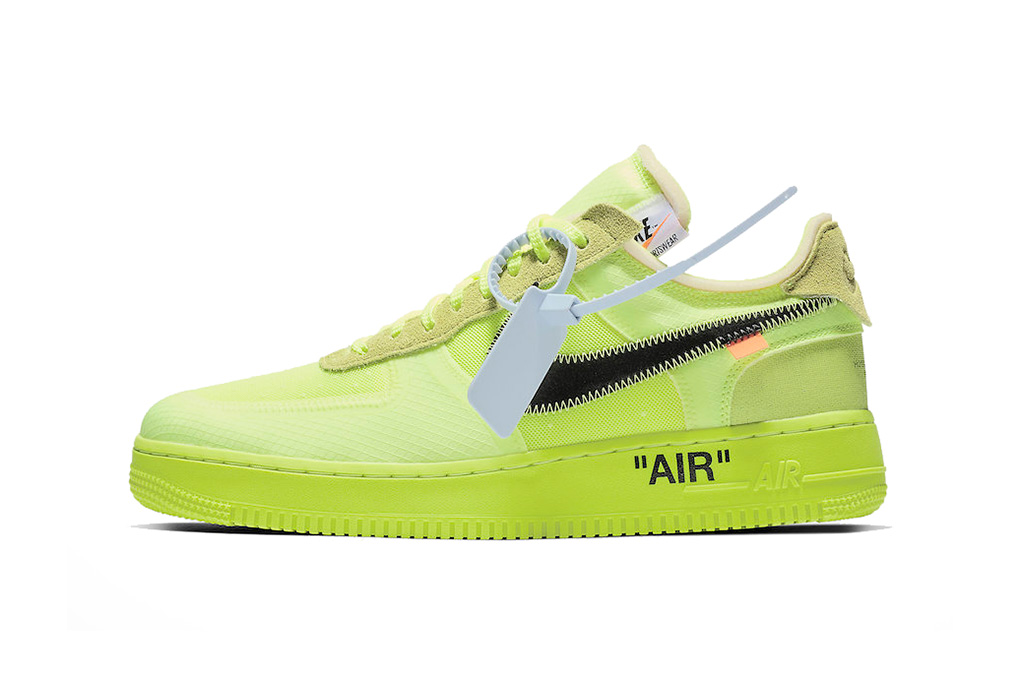off white air force 1 volt green