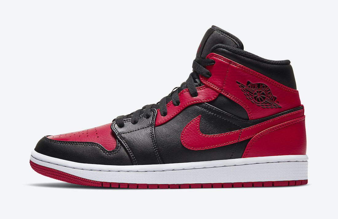 "Air Jordan 1 Mid ""Bred"" 554724-074 Release Date - SNKRS WORLD"