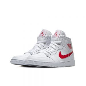 Air Jordan 1 Mid White University Red BQ6472 106