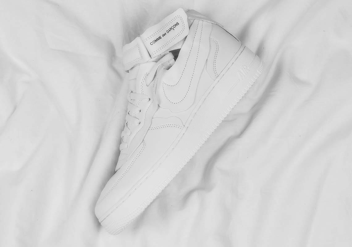 CDG Nike Air Force 1 Mid White DC3601 100 Release Date