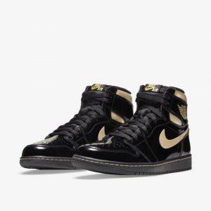 Air Jordan 1 High OG Black Gold 555088-032