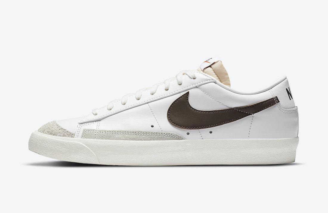 Nike Blazer Low 77 Vintage White Chocolate DA6364-100 Release Date
