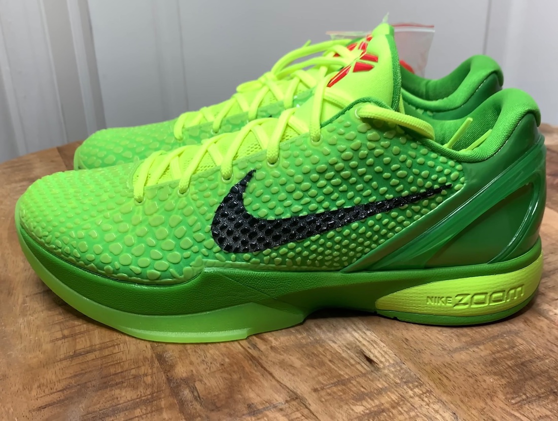 Nike Kobe 6 VI Protro Grinch CW2190-300 Release Date