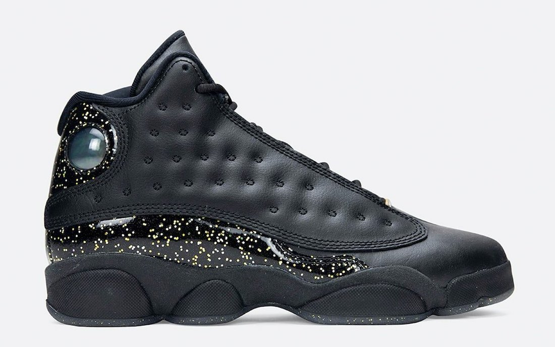 Air Jordan 13 GS Black Gold Glitter DC9443-007 Release Date