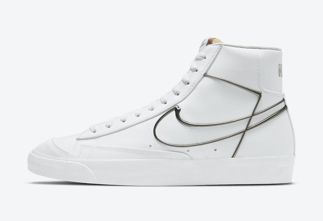 Nike Blazer Mid 77 Metallic Pewter DH4099-100 Release Date