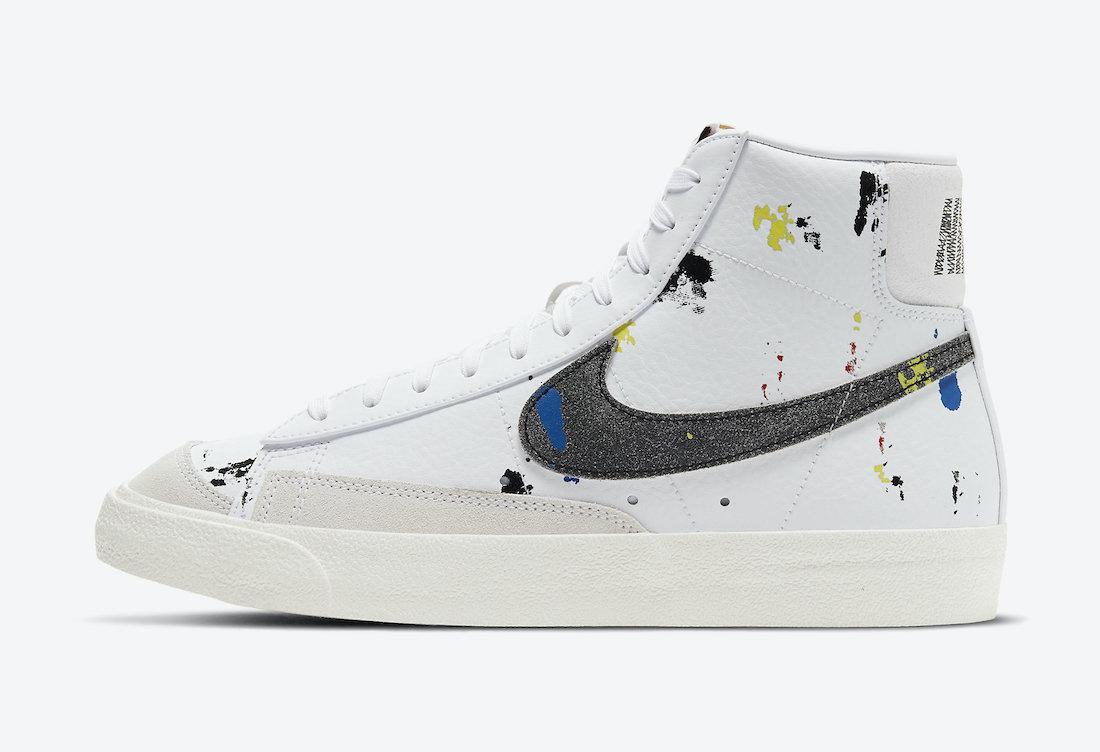 Nike Blazer Mid 77 Paint Splatter DC7331-100 Release Date