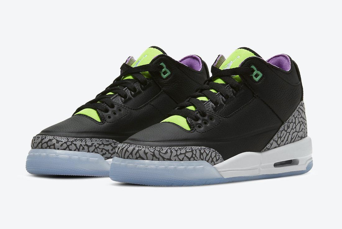 Air Jordan 3 Electric Green Kids DA2304-003 Release Date