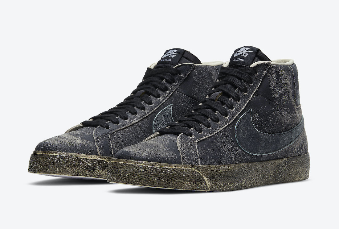 Nike SB Blazer Mid Black Light Dew Coconut Milk DA1839-001 Release Date