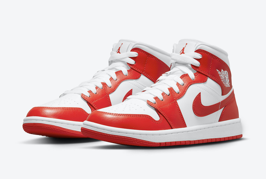Air Jordan 1 Mid WMNS Orange White BQ6472-116 Release Date