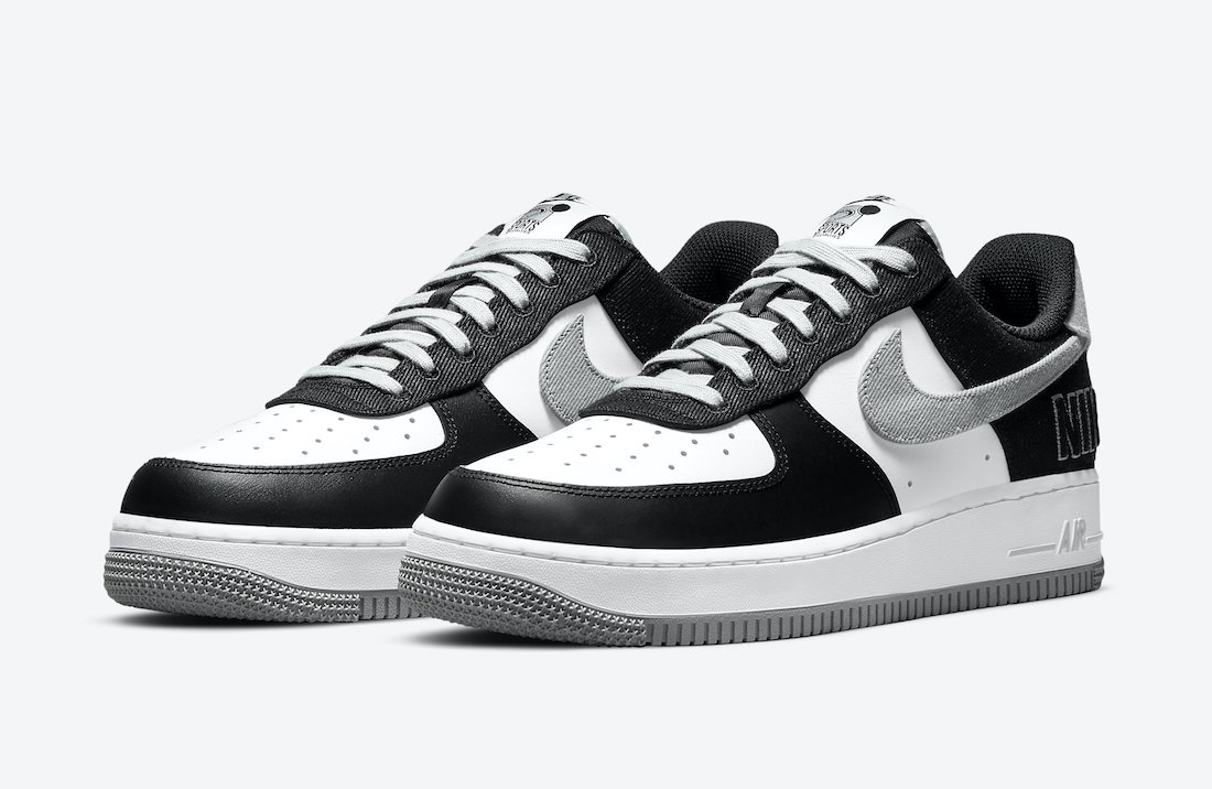 Nike Air Force 1 Low EMB Black Silver CT2301-001 Release Date
