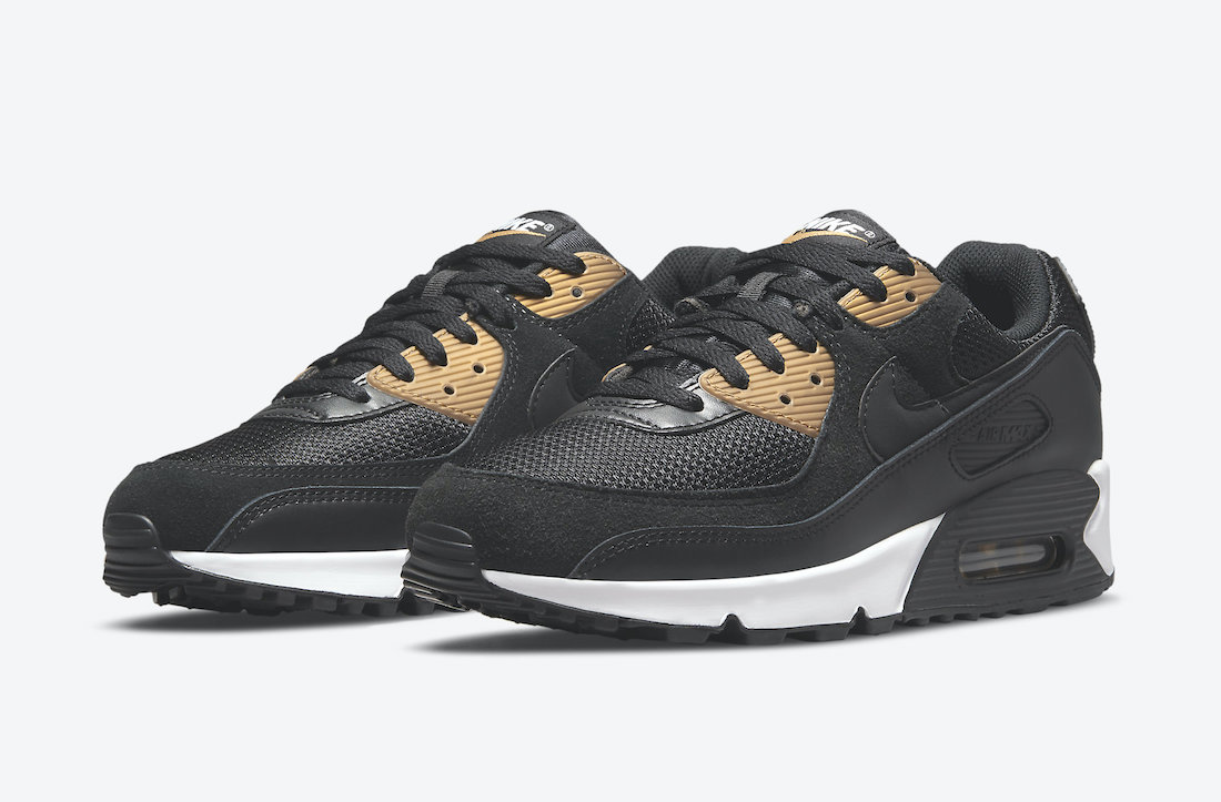 Nike Air Max 90 Black Gold DM7557-001 Release Date Info