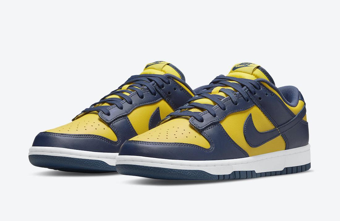 Nike Dunk Low Michigan DD1391-700 Release Date Info