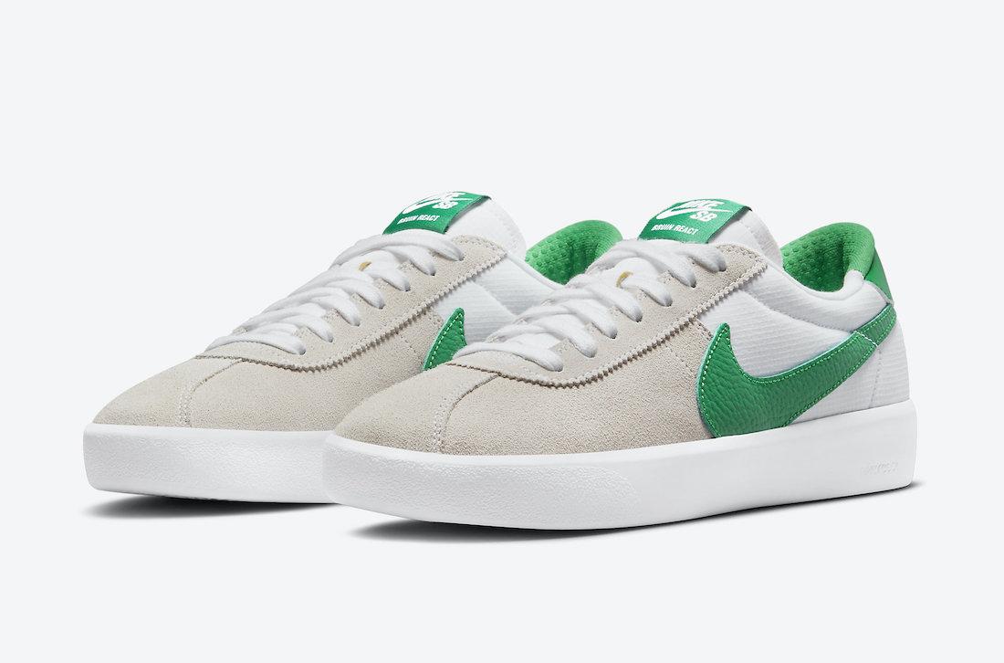 Nike SB Bruin React Lucky Green CJ1661-101 Release Date Info